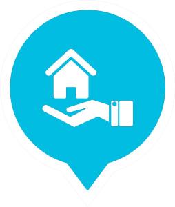 Icône de l'assurance vie hypothécaire.