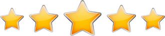 5 étoiles pour les courtiers en assurance vie des différentes compagnies partenaires avec Comparer Assurance Vie.
