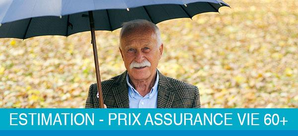 Prix en assurance vie à 60 ans et plus au Québec pour les hommes.